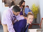 Daddy while mom and blowjob under table at family dinne