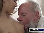 Tifanny gets her titties sucked by horny grandpa who dr