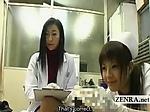 Subtitle CFNM Japanese milf doctor and nurse inspection