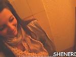 Engaging brunette diva Renata bounces on fat shaft