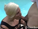 Glorious blonde GILF is putting in some hard work into