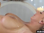 Nathaly Cherie rammed after oil massage