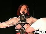 Breast bondage for needy babe