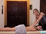 Gorgeous masseuse Blair licks and fingers Ginas wet pus