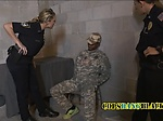 Fake soldier gets his junk checked out by perverted mil