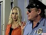 Jail warden fucking busty blonde inmate