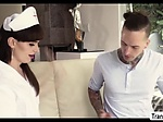 Horny Slut TS Natalie Mars visits dude for some anal