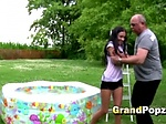 Lovely teen pounded by horny grandpa