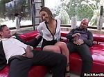 Analyst Alexis squirts and gets fucked by two big cock Yanick and Mike visit their sex analyst Alexis Crystal for their...