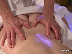 Hot ass babe bangs masseur till creampie