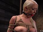 Blonde babe rough made sucking dick
