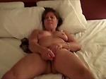 Mature wife masturbating till orgas...