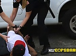 Thug named Skinny D is contrived into banging milf cops