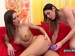 Ideal lesbian kittens get covered with pee and blast we