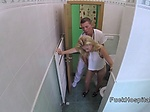 Doctor bangs blonde and films her