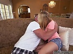Blonde handcuffed blowjob Bailey Brookes Home Alone