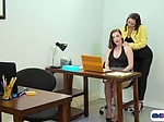 Rival interns lick ifo boss to get job