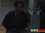 TWO horny cops sitting on BIG BLACK COCK in the CRIME S