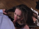Tied up babe gets face sitting and fuck