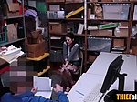 Teen thief got caught and fucked by two LP officers