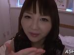Asian looker gives hot blowjob