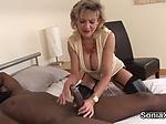 Adulterous uk mature lady sonia showcases her massive k