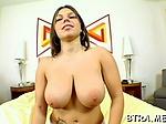 Huge juicy boobs are bouncing