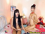 Pretty Shemale couple fuck and Cums on Cam live Two sexy shemale aim to please themselves as well as their viewers They...