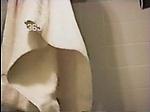 Diane Ziel exposed in shower showin...