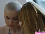 Blonde asslicking her lesbian partner