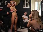 Naked blonde zappered in public bar