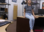 Pretty petite Kiley Jay offers expert blowjob for money