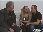 Steaming young chick fucks old guy