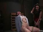 Busty mistress anal fucks naked male
