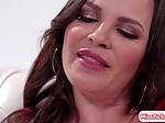Busty stepmom enjoys licking her latina pornstar stepte