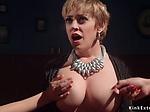 Milf dyke dp banged in foursome bondage