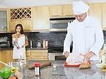 Hot teen Zaya Cassidy fucks her personal chef in the ki