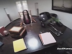 Job interview turns to amateur fuck on action cam