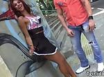 Busty shemale babe Fernanda Cristine gets a lustful ana
