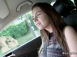 Busty Russian teen hitchhiker banging