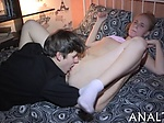Lewd anal toying for sweet babe