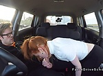 Fake driving instructor fucks redhead
