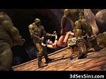 3D Elf Warrior Girl Gangbanged by O...