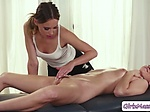 Masseuse Jillian Janson wraps her lips around Jill Kass