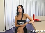 Guy checks pussy at a casting