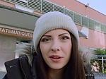 Nasty Italian schoolgirl fucks outdoor