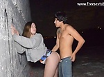 outdoor fuck gf and cum on her puss...