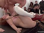 Art student sucks cock to male model