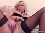 Blonde Milf has lots of fun with the lovense