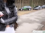 Beautiful hot babe Alessa Savage fucks in the alley